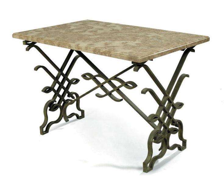 Fabriquer une table basse en fer forge - Fabriquer table basse relevable ...