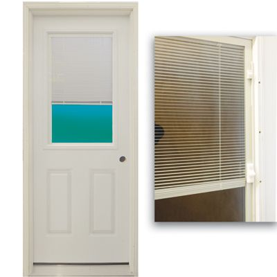 "30"" 1/2 Lite Exterior Door Unit with Mini Blinds Between the Glass - 4532663 Discount Home Improvement Outlet Guaranteed Lowest Prices Floors Doors Windows Kitchens Bath: 1 2, Floors Doors, Door Unit, Doors Windows, Mini Blinds, Steel Doors, Glass, Exterior Doors"