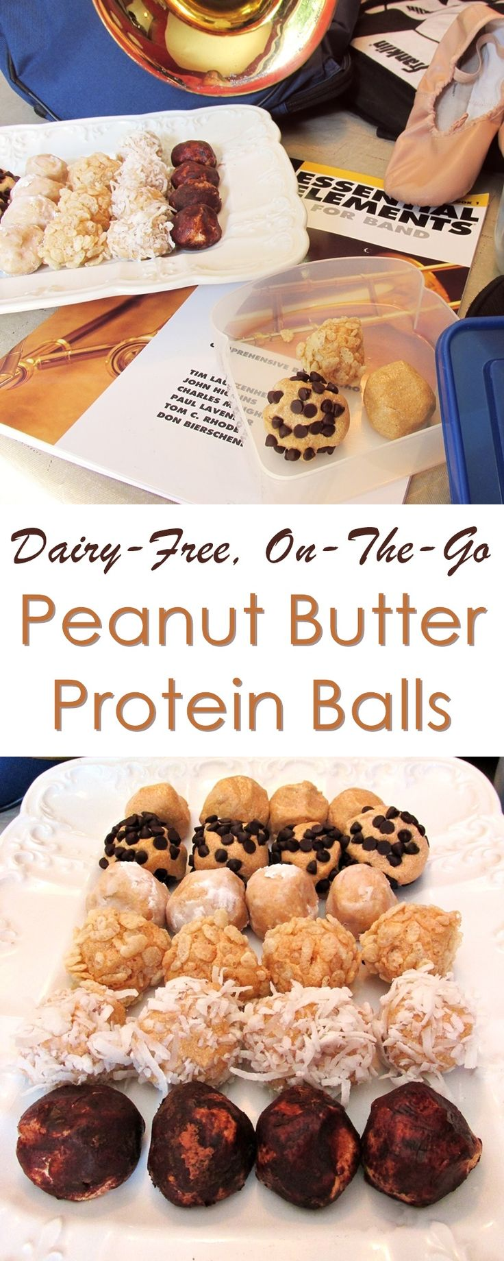 Dairy-Free Peanut Butter Protein Balls - an easy energy recipe for busy days! (vegan, gluten-free & includes peanut-free option!)