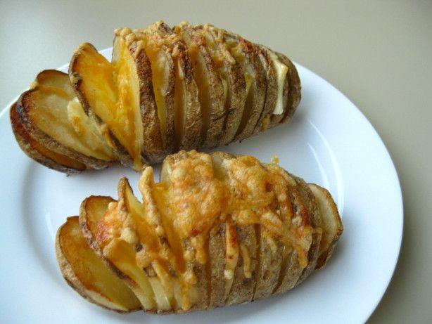 Vroubkovaný Hasselback brambory recept - Food.com