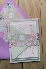*CLEARANCE * - DIANE Fancy Lavender Floral LETTERPRESS Sample