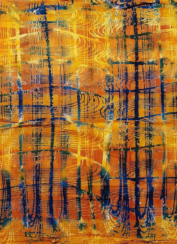 Paarse en gele potlood Afrikaanse Print / Ankara stof / Wax