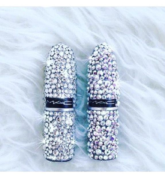 DIY Rhinestone Lipstick tubes. Bachelorette party gifts, bridesmaid gifts
