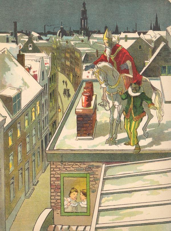 Sinterklaas en zwart Piet