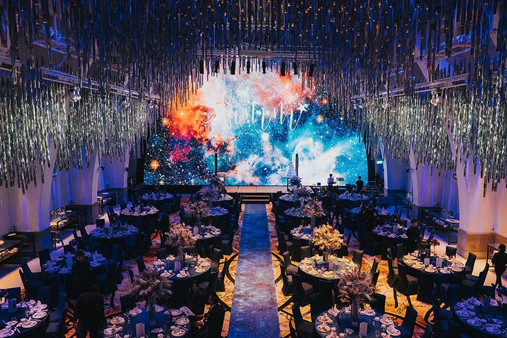 Aaron and ming mings galaxythemed wedding at jw marriott