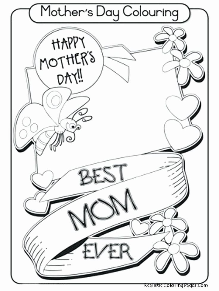 Mothers Day Coloring Flowers Beautiful Best Grandma