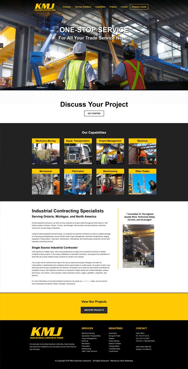 Single-source industrial contracting specialists.