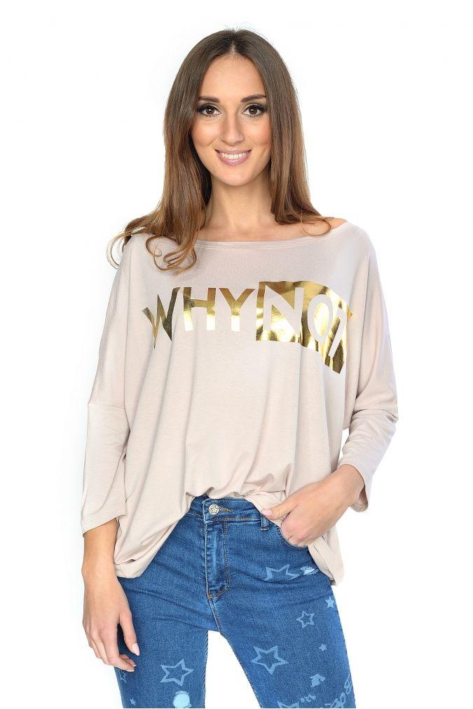 155ea1054f  NOWOŚĆ bardzo  wygodna  czarna  bluzka  damska  plus  size. Luźny fason i   złoty nadruk  3 Do 152 cm w biuście  3  3  modna  odzież  dlapuszystych   online ...