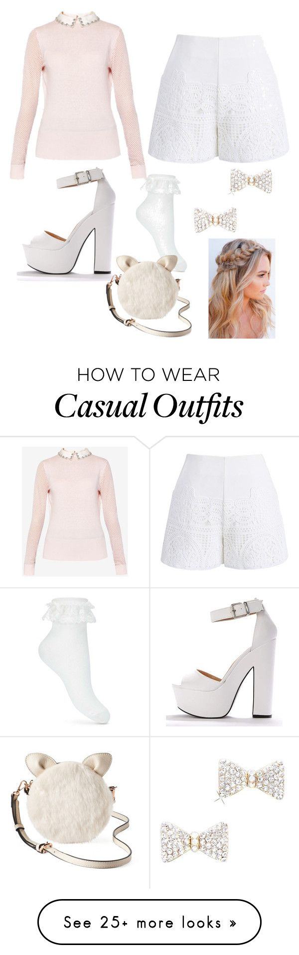 """""""cute But casual"""" by karristu on Polyvore featuring Ted Baker, Chicwish, Miss Selfridge and LC Lauren Conrad"""