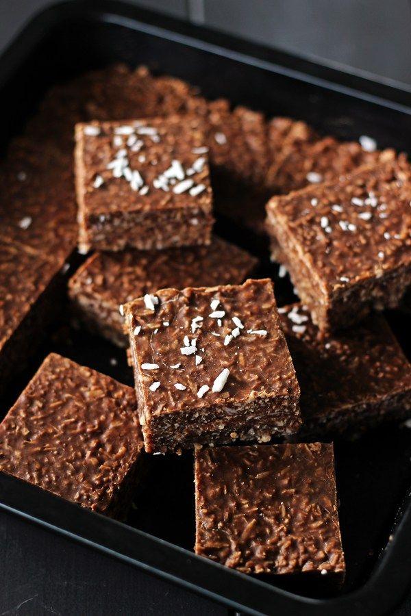 Chocolate Coconut Slice {aka chocolate fish slice!}