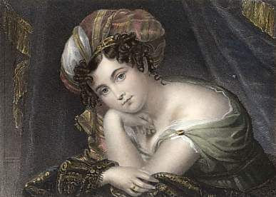Princess Esterhazy, the youngest of the Almack's patronesses, wearing a turban.