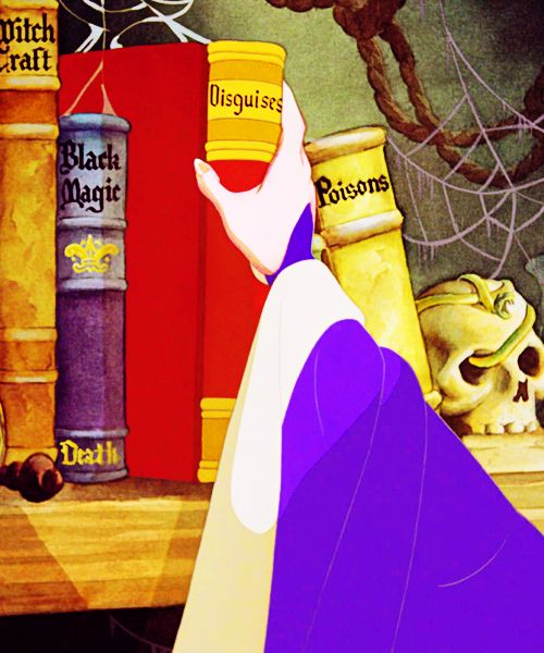 The Evil Queen's Books From Snow White Witchcraft, Black Magic, Disguises, and Poisons. Maleficent!