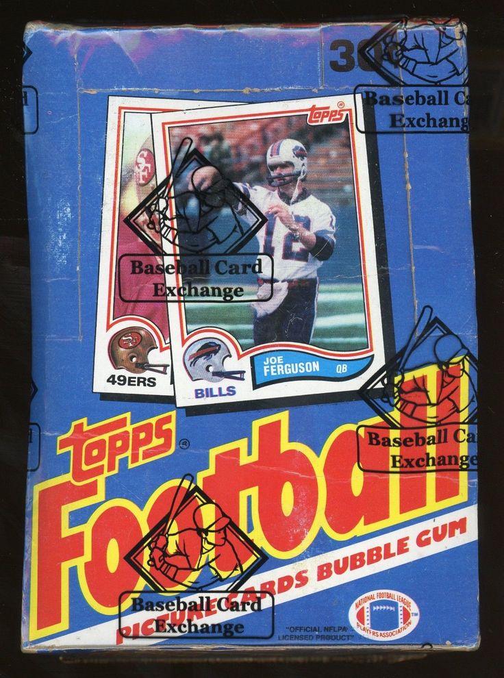 1982 Topps Football Wax Box BBCE Authenticated Baseball