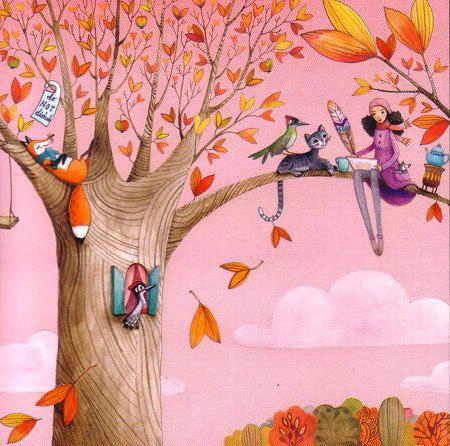 Square postcard designed by Mila Marquis por MarquisWonderland