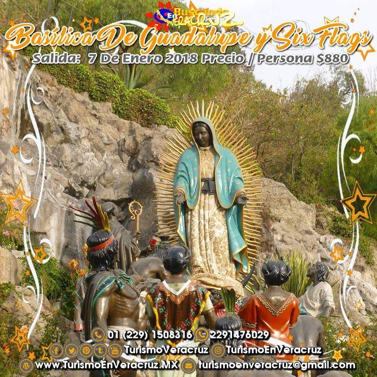 Se parte de la primera #excursión del año que será a la #BasílicadeGuadalupe y a #SixFlags saliendo de #Veracruz #Cardel y #Xalapa   ¡ Reserva Tu Lugar YA ! Más información en: Tels: 01 (229) 150 83 16 WhatsApp: 2291476029 Email: turismoenveracruz@gmail.com http://www.aventuraextrema.com.mx/sixflags.htm