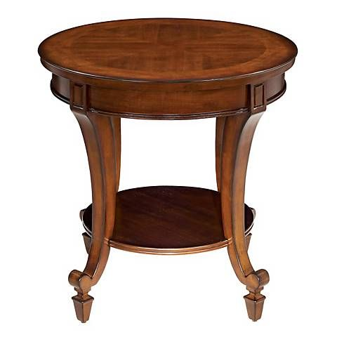 Demilune Collection Round End Table - #G5656 | Lamps Plus
