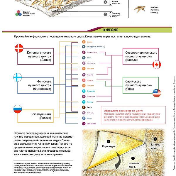 Новая инфографика ria.ru, подготовленная совместно с РЭУ им. Г.В. Плеханова, дает практические советы экспертов о признаках некачественного мехового изделия.