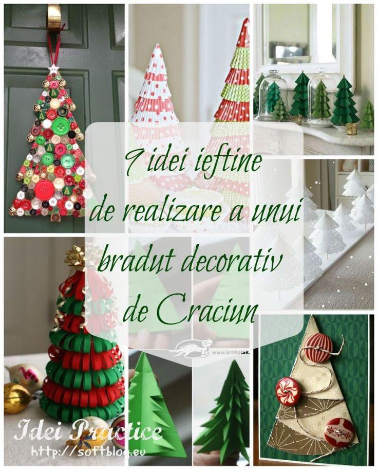 Braduti decorativi de Craciun. 9 idei ieftine de realizare