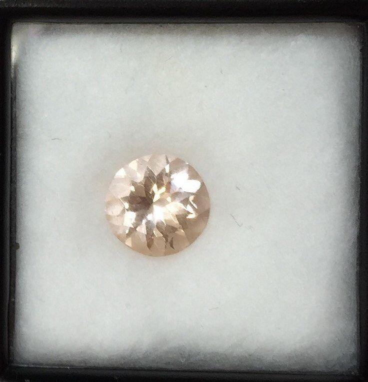 round Morganite gem, ronde morganite, perzik morganite, Natural Morganite - Engagement Rings