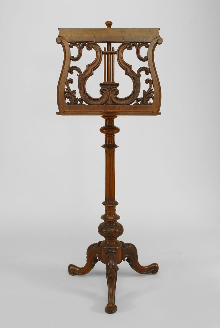 French Victorian Carved Walnut And Filigree Lyre Top Adjustable Music Stand  With Fluted Acanthus Leaf Base. And Conditions, You Must Ensure That Any  Such ...