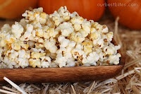 Stove Top Kettle Corn  Recipe by Our Best Bites    3 T canola or vegetable oil  1/3 C popcorn kernels  3 T granulated sugar  kosher salt  You cook/pop it all in a pot on the stove!!