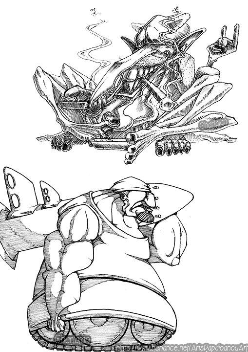 Devil Smokin - Tank guy ( character design )