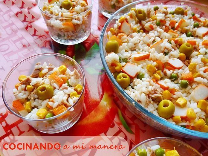 Receta de Ensalada de arroz   Eureka Recetas