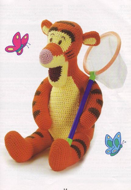 Disneys Pooh and friends 18 doll crochet pattern