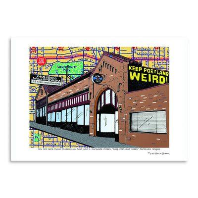 East Urban Home Keep Portland Weird Music Millennium by Lyn Nance Sasser and Stephen Sasser Graphic Art Size: