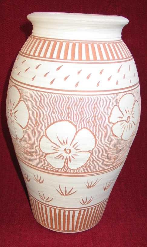 Vase with slip