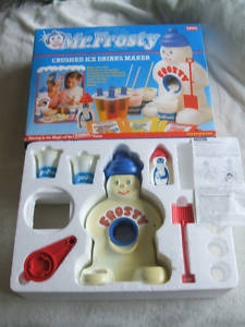 Mr. Frosty - it mysteriously disappeared when the men in my family tried to grate carrots with it. Funnily enough it didn't work and they broke it. No it wasn't replaced.