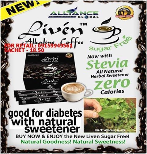 THE FIRST ALKALINE COFFEE FROM ALLIANCE IN MOTION GLOBAL INC. (PRODUCTS ARE FROM NATURE'S WAY)... A SUGAR FREE WITH NATURAL HERB SWEETENER STEVIA. http://www.allianceinmotion.com