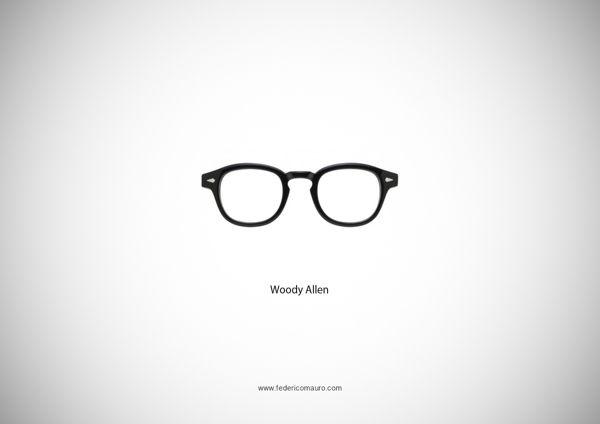 Famous Eyeglasses by Federico Mauro, via Behance