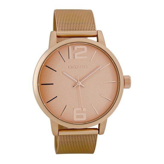 bol.com | OOZOO Timepieces horloge Rose goud C7204 | watches