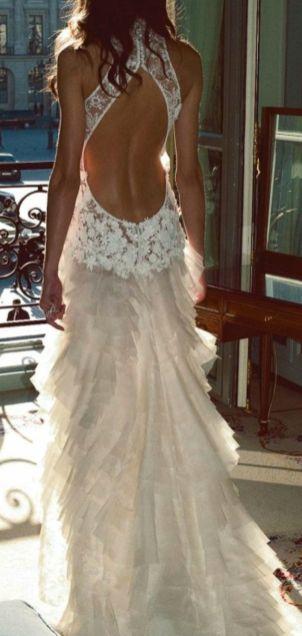Bruidsjurk trouwjurk lage rug open rug