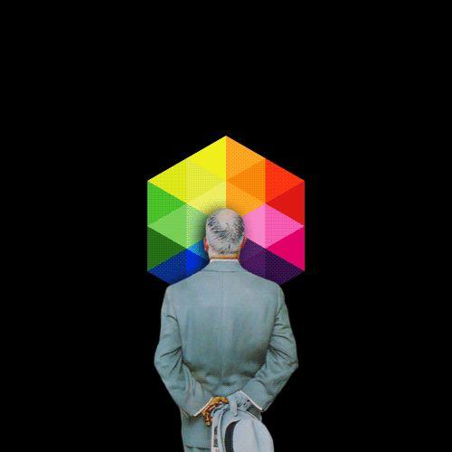 Un tableau de Norman Rockwell en animations psychédéliques Photo