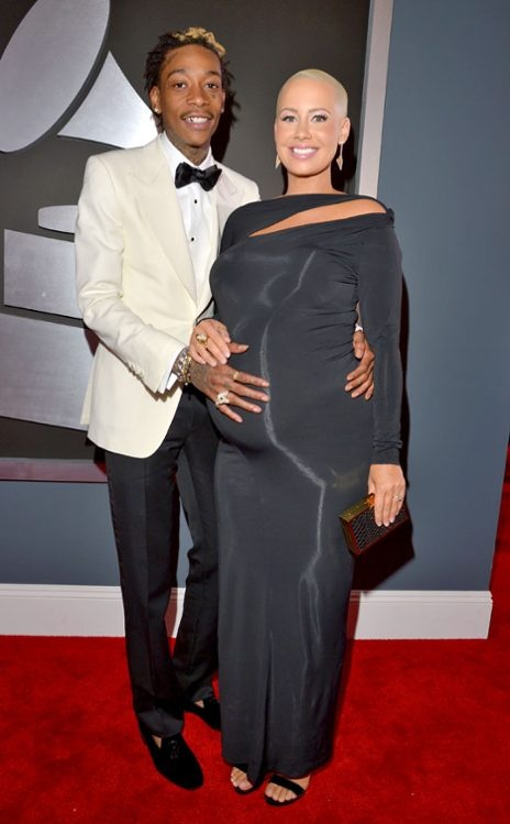 Amber Rose in Donna Karan at the 2013 Grammys. Great cut, bit shiny shiny though. #redcarpetbump