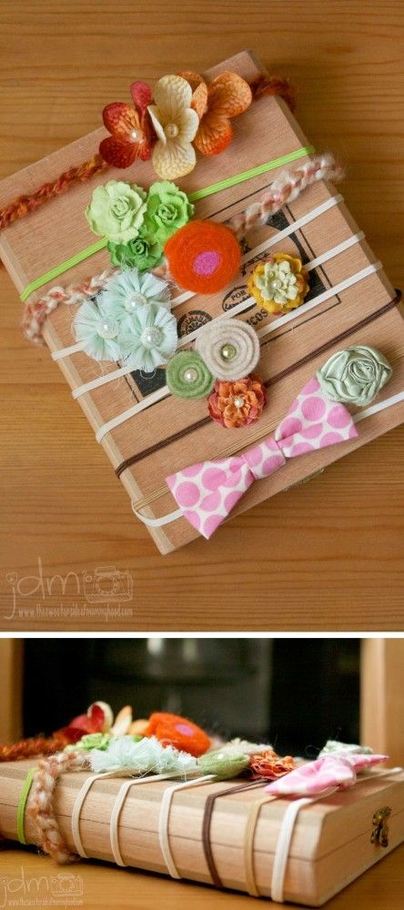 Newborn photography prop DIY :: handmade or gently used newborn headbands.