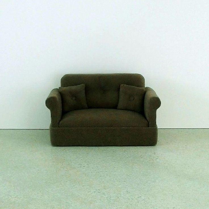 Miniature Sofa - KHAKI/OLIVE GREEN - Free Shipping #Unbranded