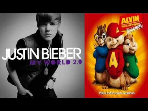 """Again, bored at 1 AM...I got Alvin and The Chipmunks to perform Biber's hit song """"Baby"""" xD"""