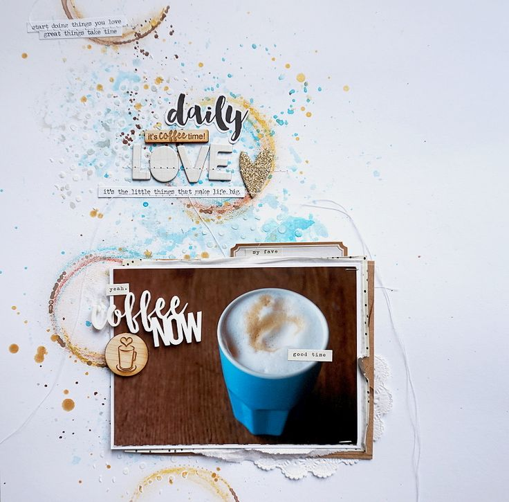 hi and hello, a quick post before i am off to work! i had a lot of fun to create this layout, i worked with a great set from ColorCastDesigns!! COOOOOOOFFFFEEEEE!!! it´s coffee time… always&#…
