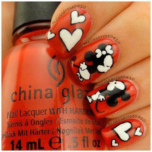 Inspiración Nail Art preciosa del dia de San Valentin
