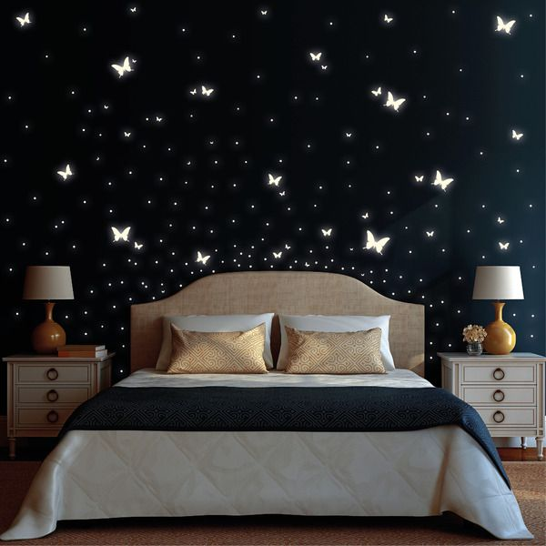 "Wall Decals – Light sticker: ""Butterflies and Dots"" – a unique product by wandtattoo-loft on DaWanda"