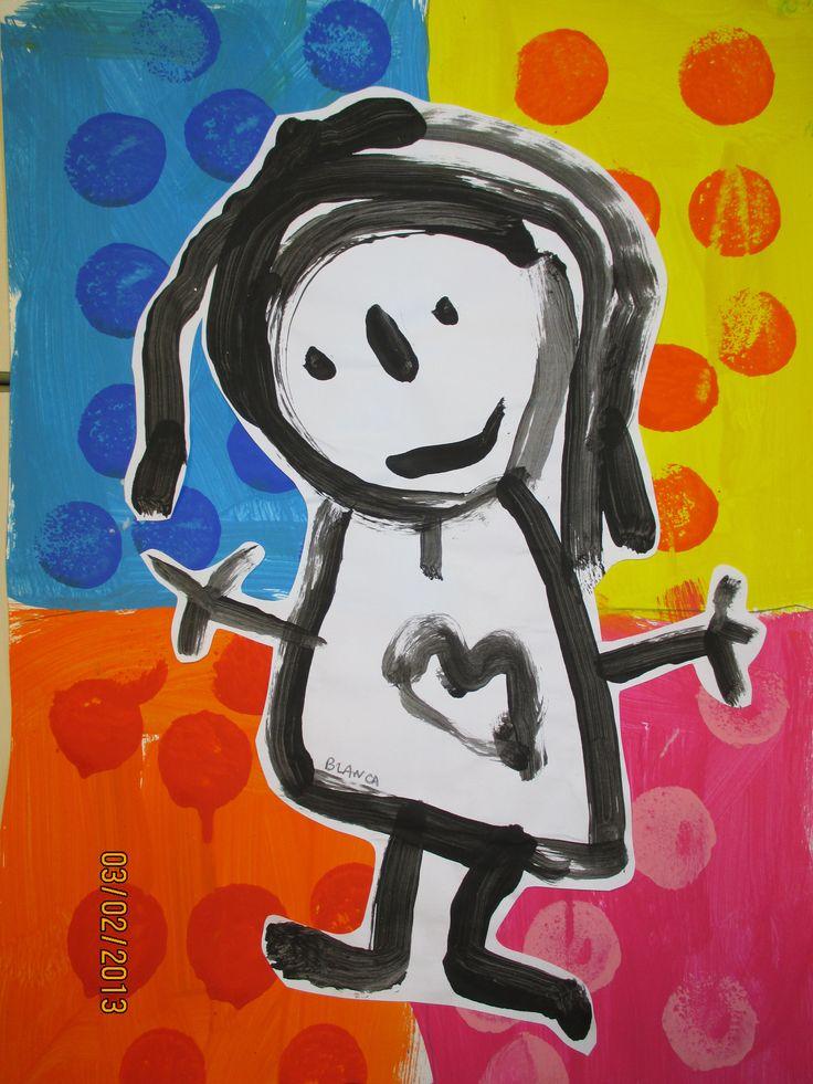 231 best Bonhomme images on Pinterest Arts plastiques, Craft and - dessin de maison facile