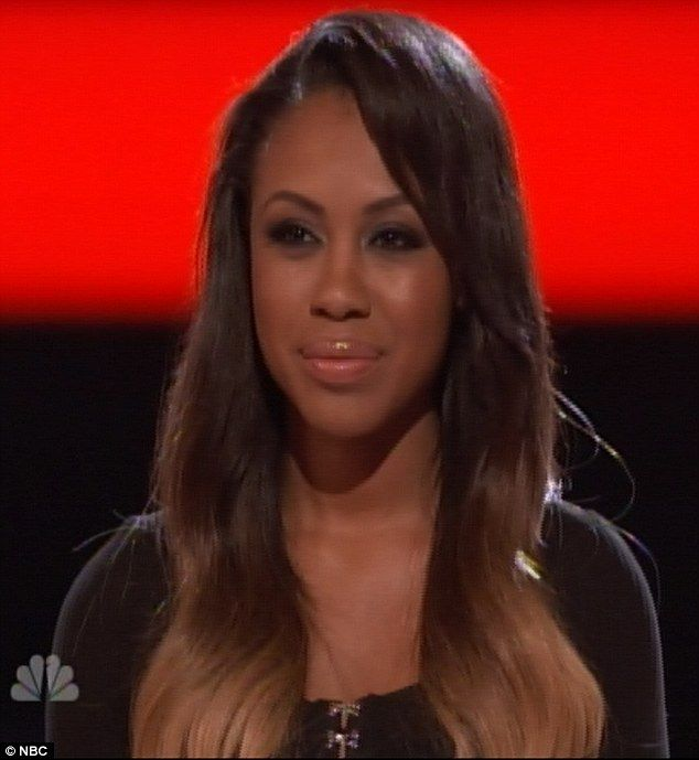 Don't cry: Sasha Allen was less than pleased after her hopes of stardom were dashed by the audience vote on The Voice
