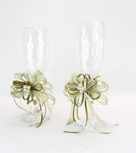 Decoracion de copas para boda copas para boda inicio - Decoraciones bodas vintage ...