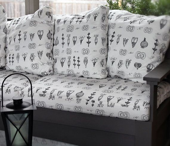 Custom cushion covers made to order for couches, benches, etc. all custom made to size. Choose your own custom fabric.