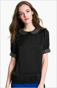 Women dress shirts black