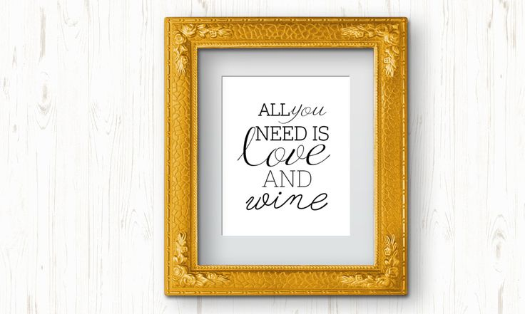 all you need is love and wine printable, love and wine printable, love printable, wine printable, kitchen bar printable, typography wall art by ThePrintableCorner on Etsy