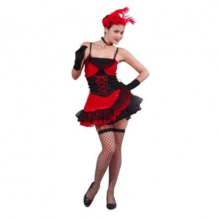 Womens Cocktail Can Can Costume
